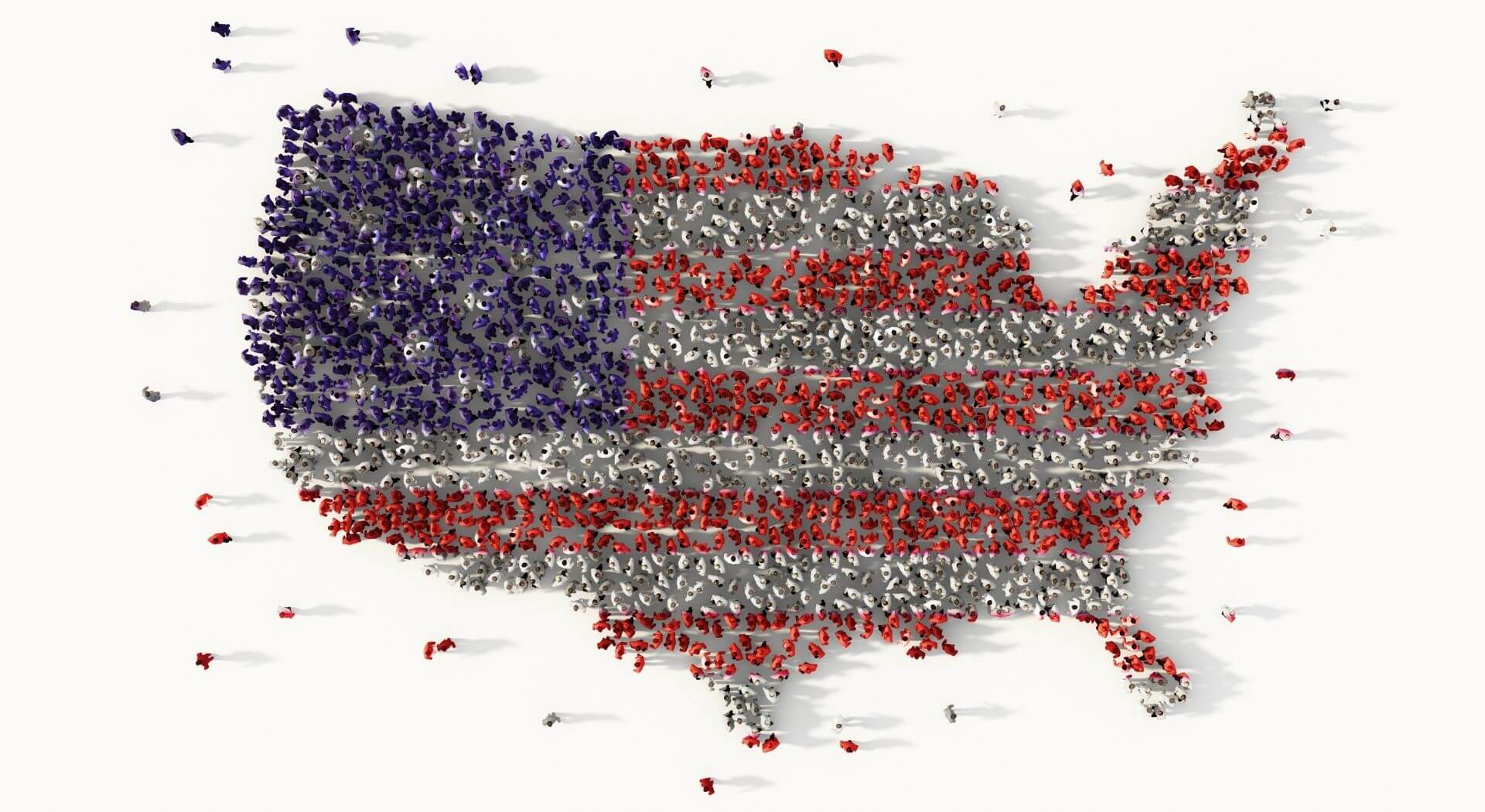 Large group of people forming the United States | Rick Smith, Axon